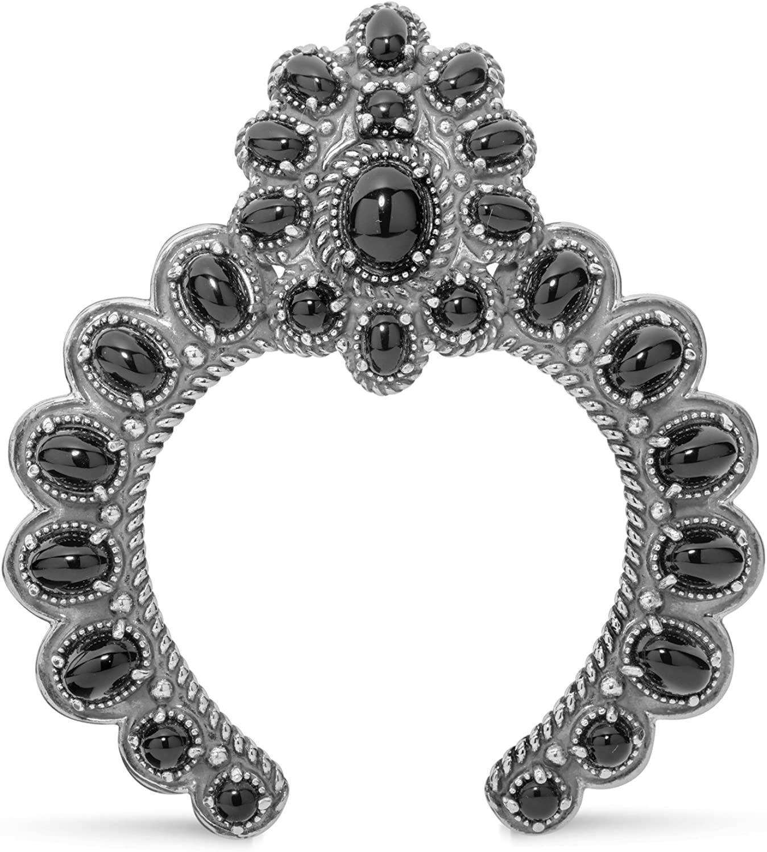 American West Sterling Multi Gemstones Naja Pendant Enhancer - Choice of Gemstone