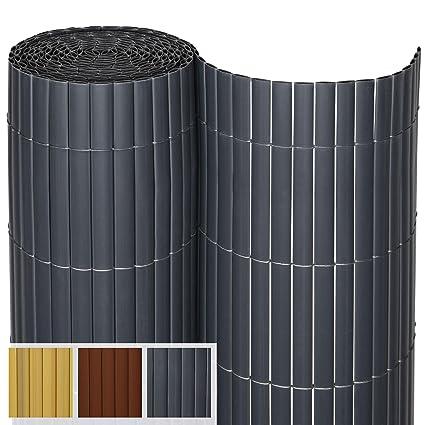 PVC Sichtschutzmatte 100x500 cm  braun Balkon Sichtschutz Zaun Windschutz
