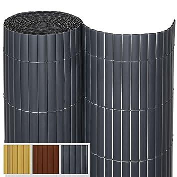 Sol Royal PVC Sichtschutz SolVision P14 - PVC Sichtschutzmatte Balkon & Terrasse 80 x 300 cm Anthrazit Sichtschutzzaun Balkon