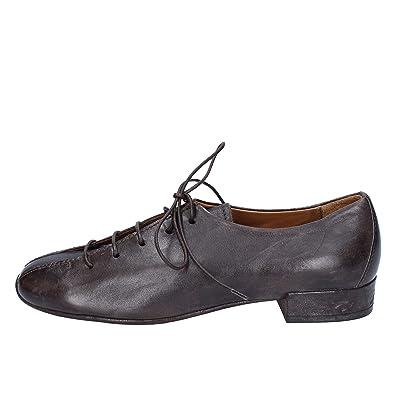 Élégantes Marron Cuir Femme 37 Moma Chaussures Eu OP0wkn