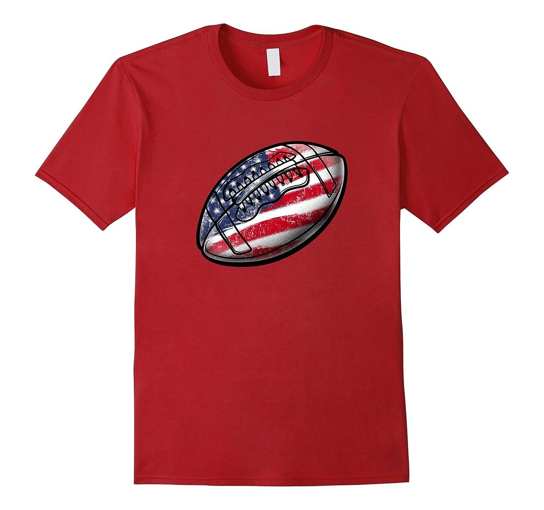 4th July USA Football T-Shirt-PL