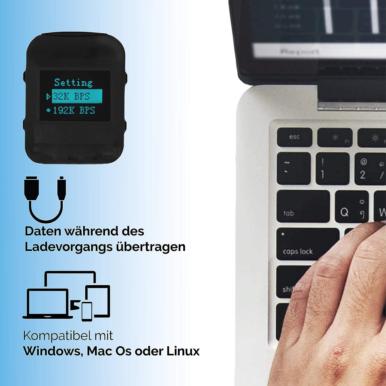 Piccole dimensioni e 24 ore batteria 570 ore Modulo Configurabile 8GB Suono HQ 1536 Kbps Involucro di gomma Registratore Vocale con Attivazione Vocale