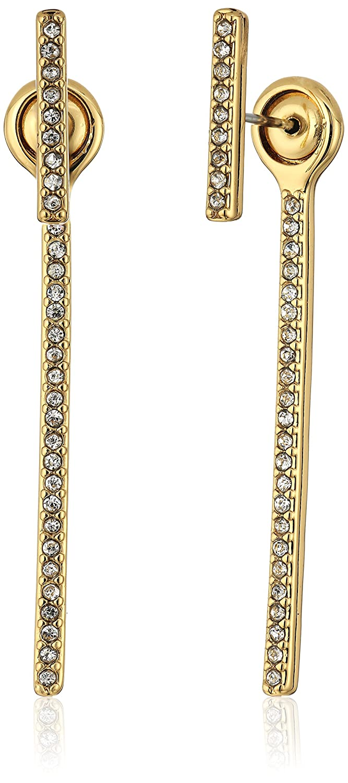 Rebecca Minkoff Womens Pave Bar Front Back Earrings Rebecca Minkoff Jewelry 06460912K107