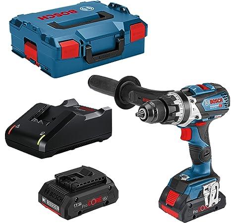 Bosch Professional 18V System GSR 18V-110 C 110 Nm, /Ø m/áx. tornillo 12 mm, conectable, sin bater/ía, en L-BOXX Atornillador a bater/ía