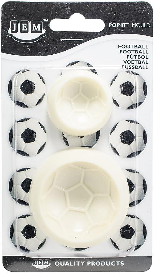 JEM Pop It - Molde en Forma de Balón de Fútbol para Decoración de Pasteles,