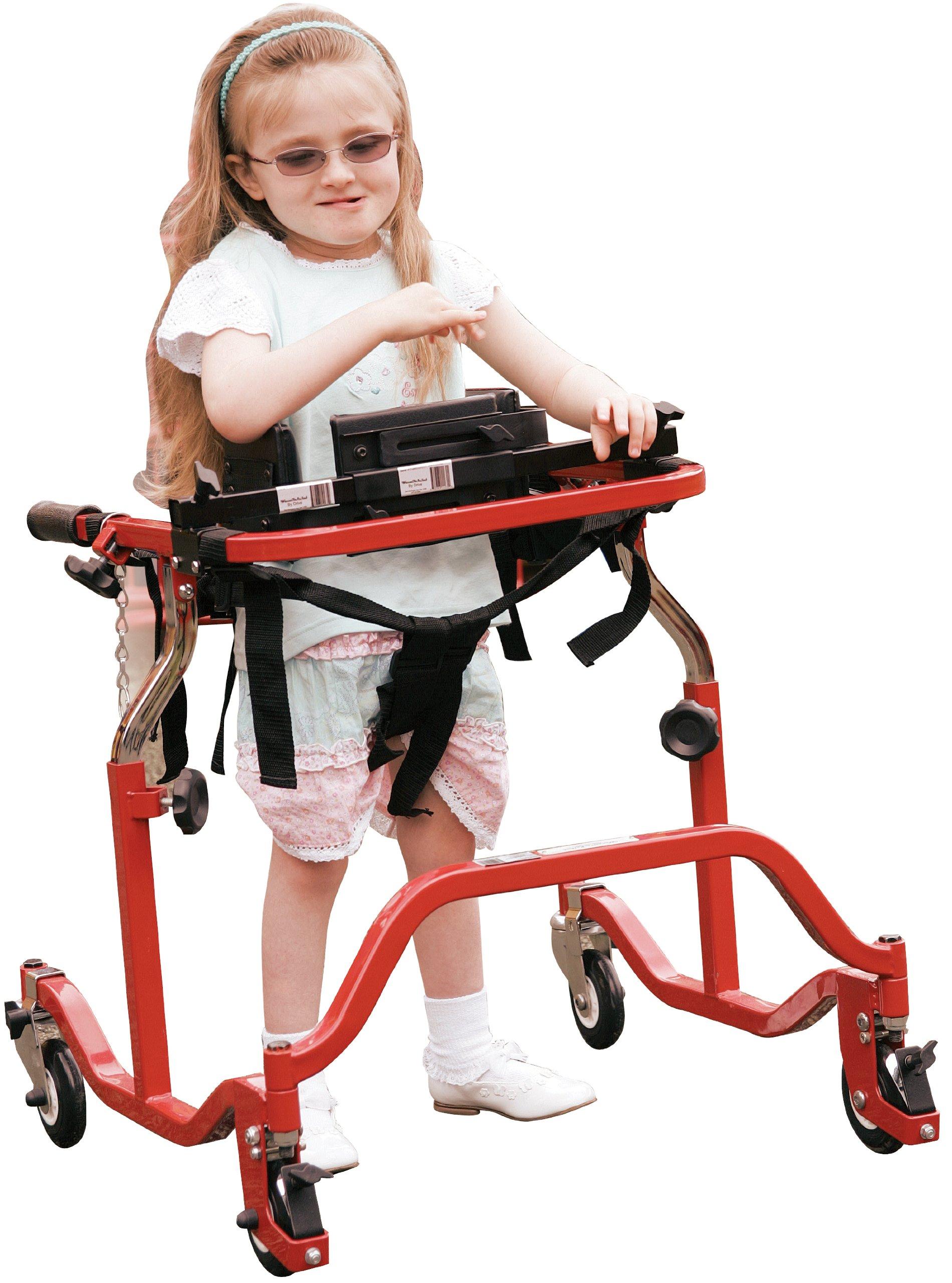 Wenzelite Luminator Gait Trainer with Posterior or Anterior Option, Red, Pediatric