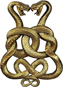 Design Toscano Egyptian Infinity Cobra Twins Wall Plaque,Gold,19 Inch