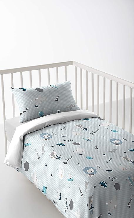 Marca Nuevo Bebé Cuna Cama Funda De Almohada 60 X 40-100/% algodón-Azul