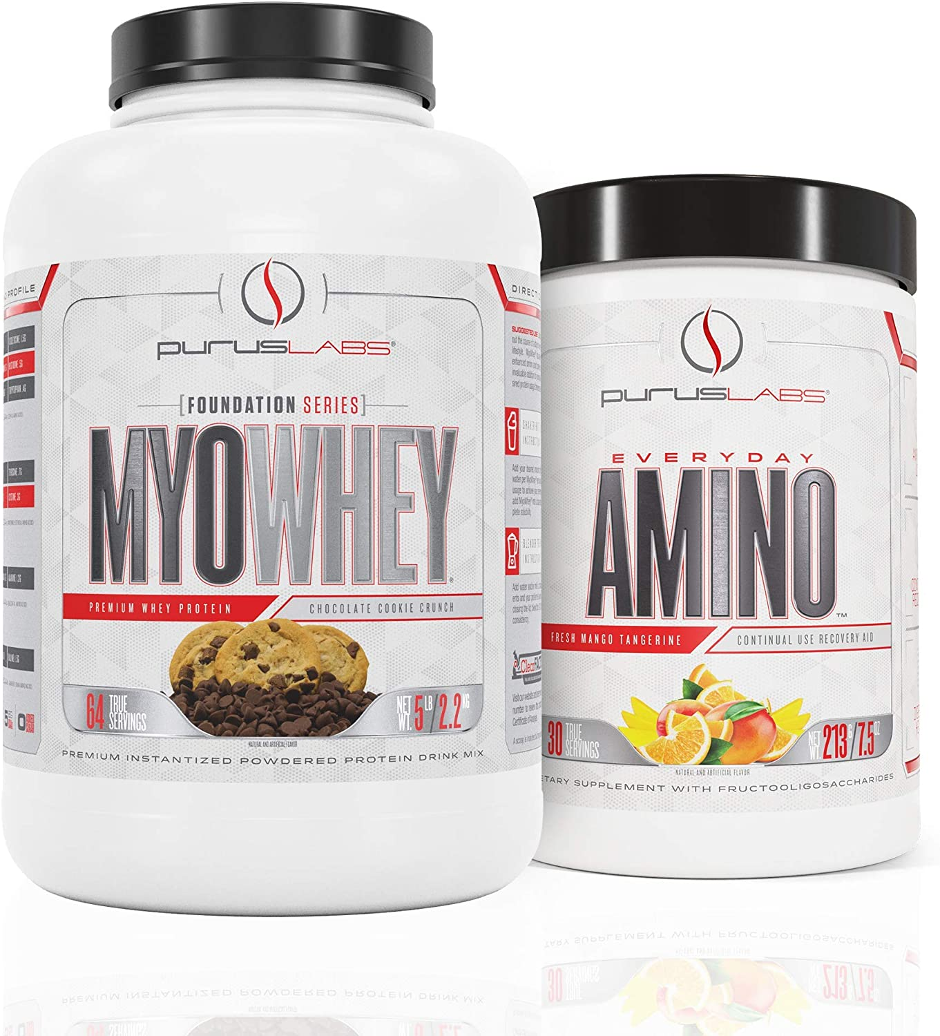 Purus Labs MyoWhey 5lb Chocolate Cookie Crunch Protein & Everyday Amino Strawberry Lemonade Bundle