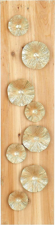 Deco 79 53387 Wall Decor, Light Gold/Light Brown