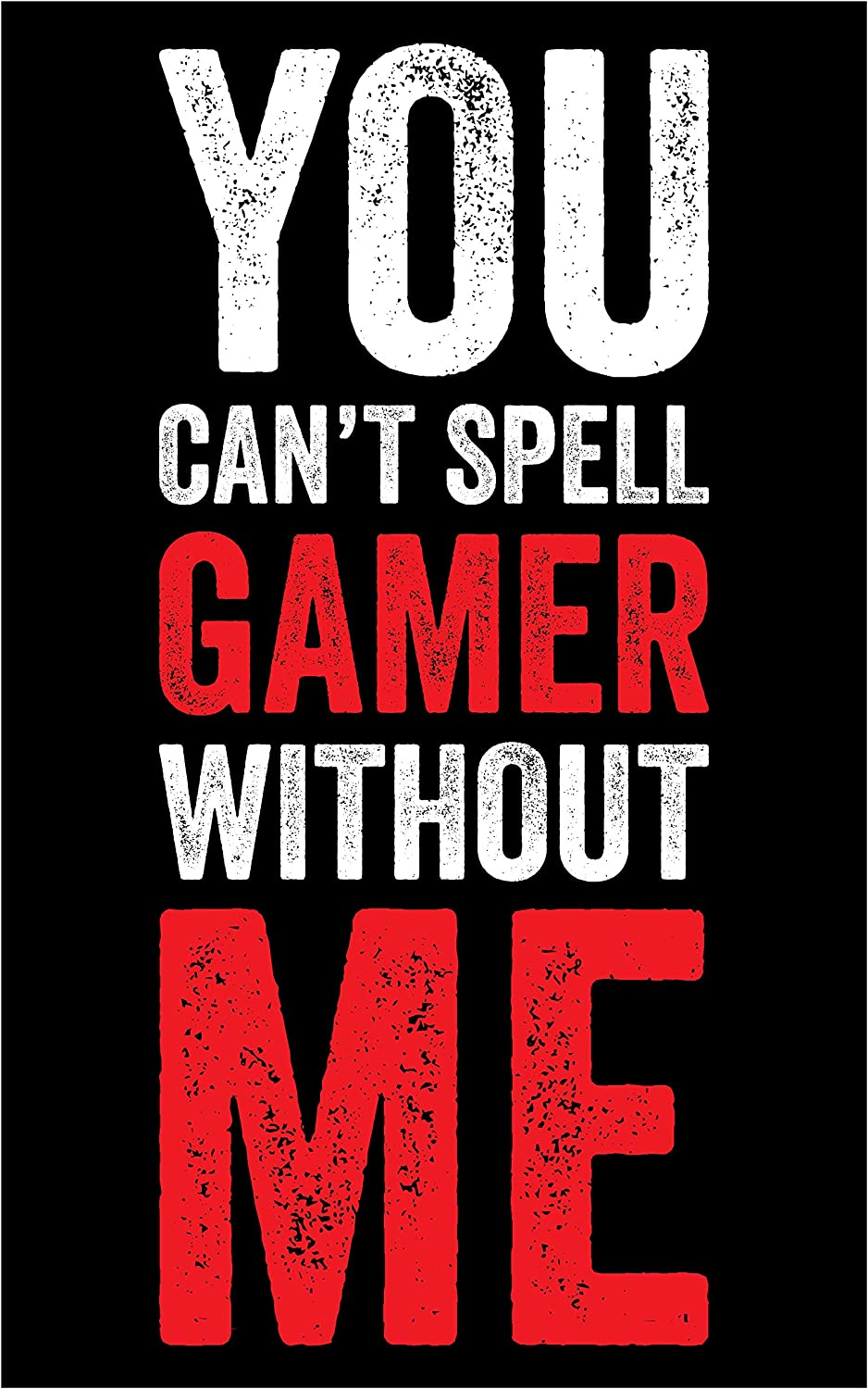Spell Gamer Poster - Video Game Artwork - Wall Art Print - Boys Room - Gaming (11 x 17 Inches)