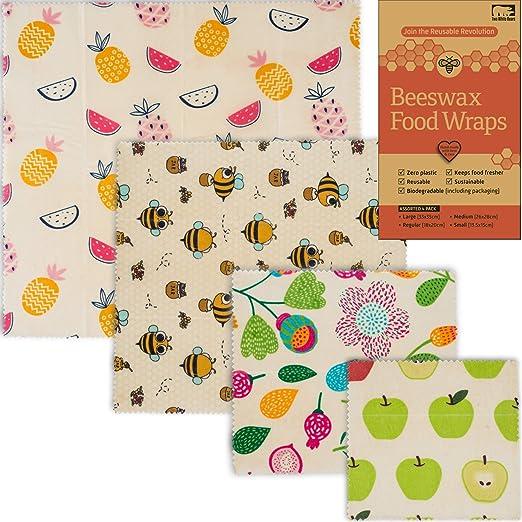Envoltorio de cera de abeja para almacenamiento de alimentos ...