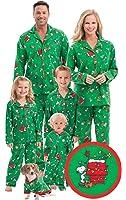 PajamaGram Charlie Brown Christmas Matching Family Pajamas, Green