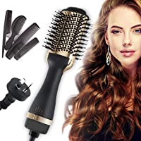 JORAGO Hair Dryer Brush, One Step Hair Dryer & Volumizer AU Plug Hot Air Brush Quick-Drying (SAA Certified) -Gold