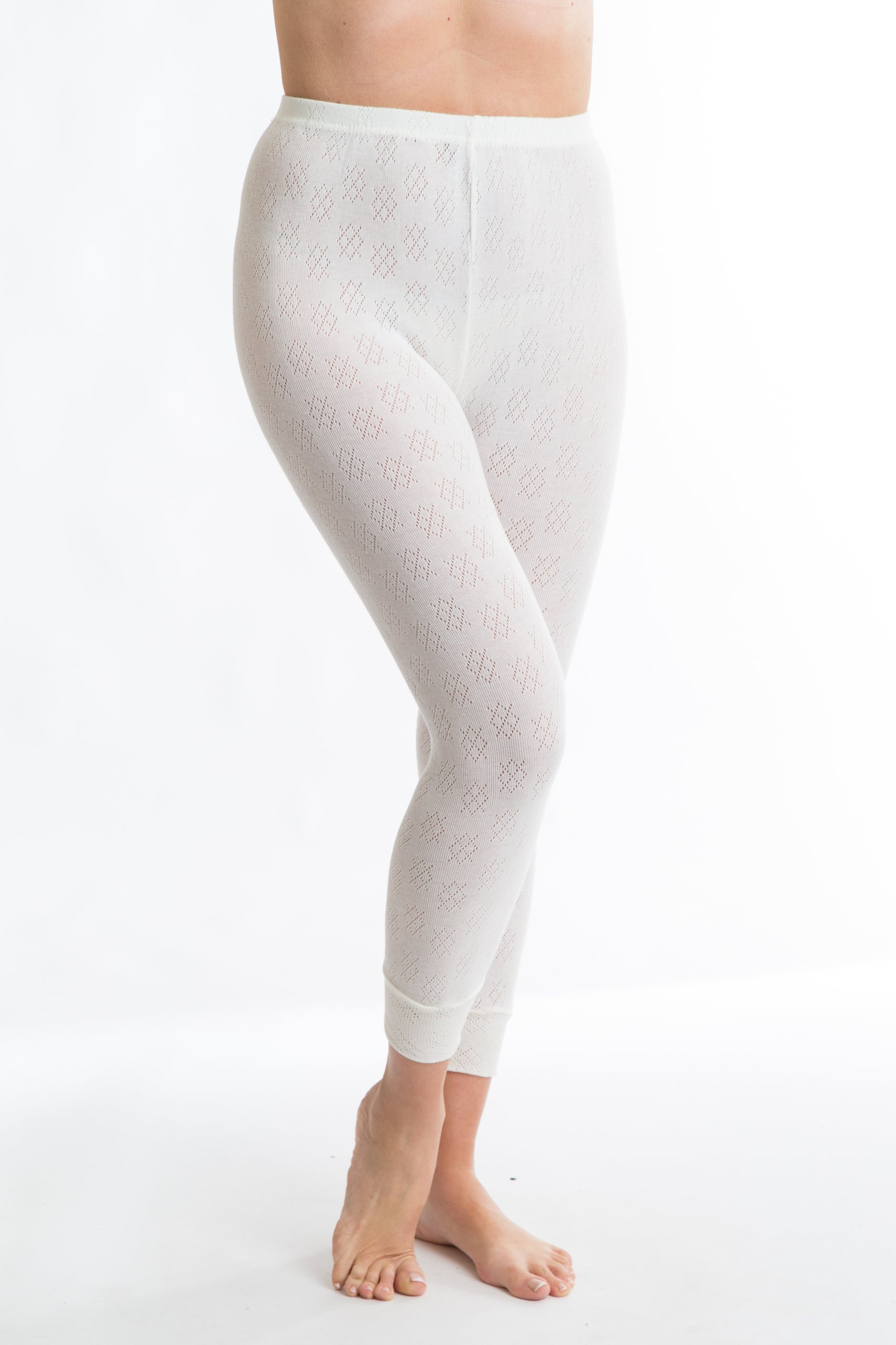 Octave British Made Womens Thermal Long Jane (Extra Warm) - Size OS, White