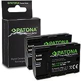 2x Premium Batteria LP-E6 | LP-E6N per Canon EOS 5D | 5D Mark II | 5D Mark III | 5DS | 5DS R | 60D | 60Da | 6D | 70D | 7D | 7D | 7D Mark II | 80D | Mark II | Mark III | R 5D | XC10