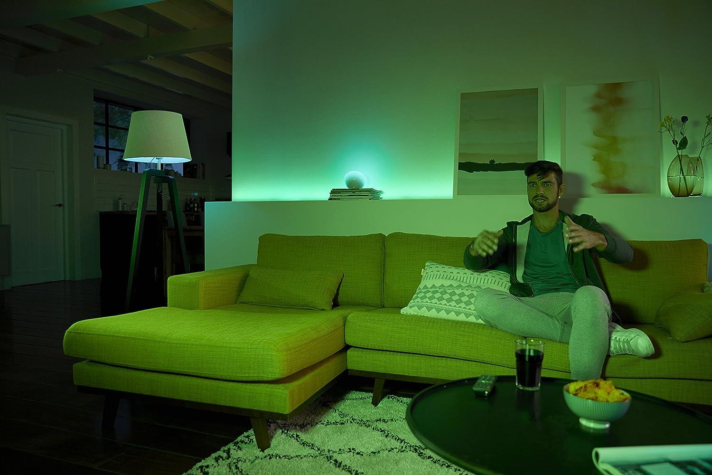 Compatible con  Alexa Apple HomeKit y Google Assistant tira LED de 2 metros con enchufe Kit de Lightstrip Plus y l/ámpara port/átil Go Philips Hue White and Color Ambiance