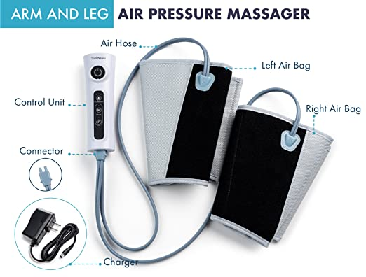 Arm and Leg Massager and Electric Compression Calf Wrap - built-in charger