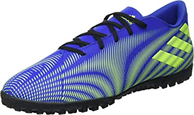 Adidas Nemeziz .4 Faux Leather Printed Two-Tone Three Back Stripe Lace-Up Turf Shoes for Men