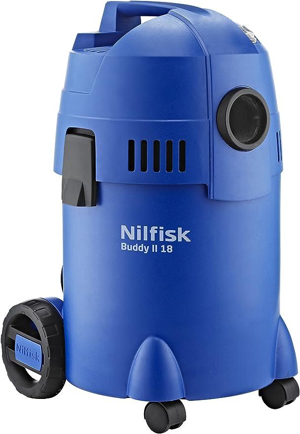 Nilfisk Aspirador de Bricolaje Buddy II 18, con o sin Bolsa, 74 Decibelios, Azul: Amazon.es: Bricolaje y herramientas