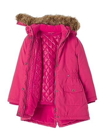 1c78618056b0 Vertbaudet Girls  3-in-1 Parka with Polar Fleece Lining Pink Light ...