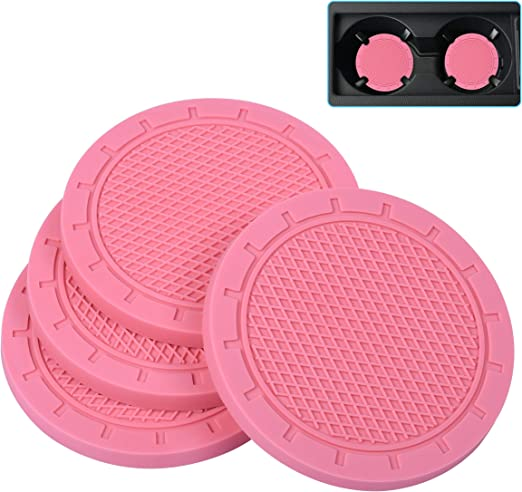 Car coasters for women 2 pack Universal Vehicle Cup Holder Coasters Cute car accessories