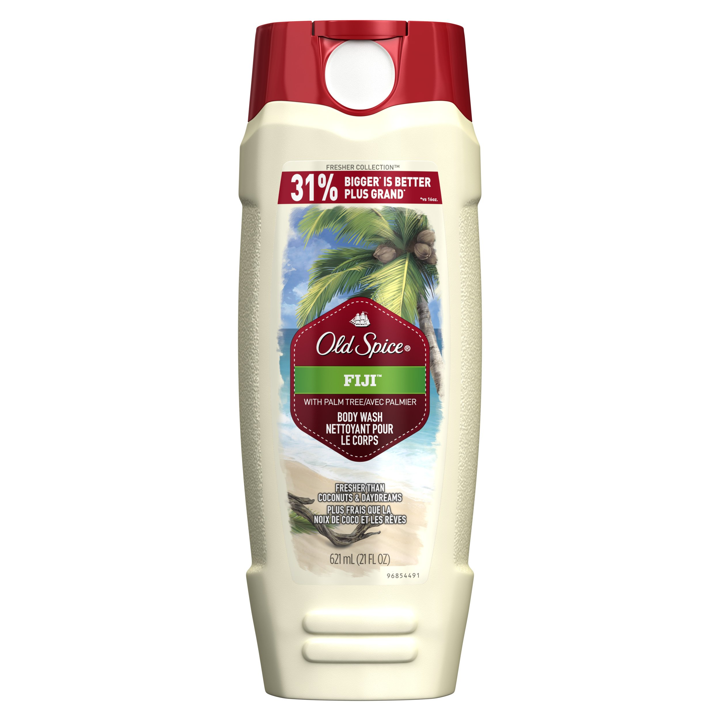 Old Spice Men's Body Wash, Fresh Collection Fiji, 21 Fluid Ounce