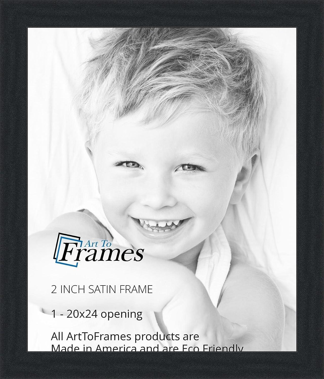 Amazon.com - ArtToFrames 20x24 inch Satin Black Picture Frame ...