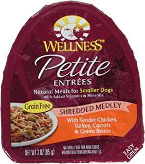 Wellness 3 Oz Grain Free Natural Wet Small Breed Roasted Chicken & Turkey Dog Food (