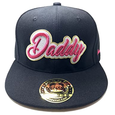 811dd8567 PANDAHAT Daddy Cursive 3D Puff Embroidery Hat