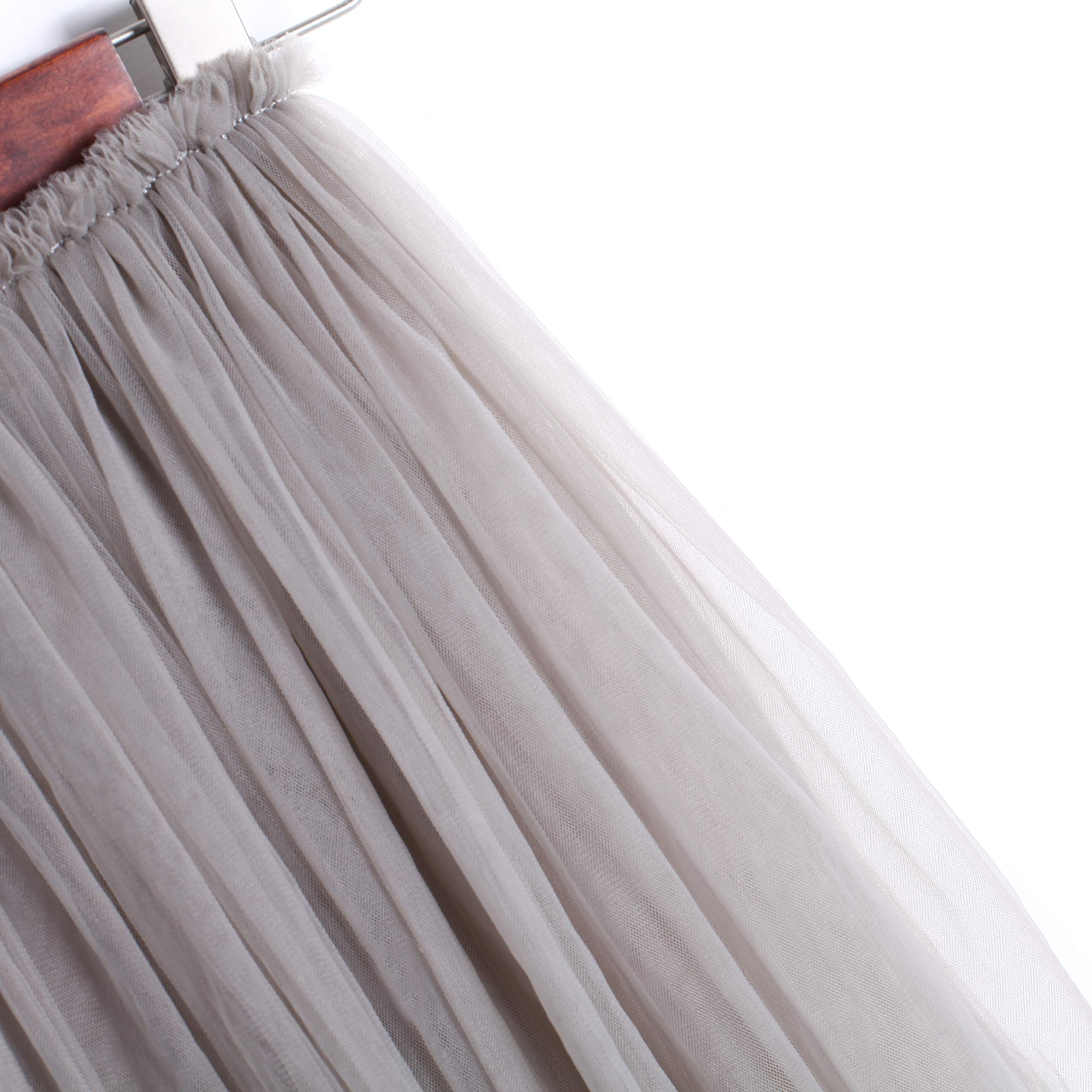 Flofallzique Tulle Tutu Girls Skirts for 1-12 Years Old Dancing Party Toddler Clothes(6, Gray) by Flofallzique (Image #4)