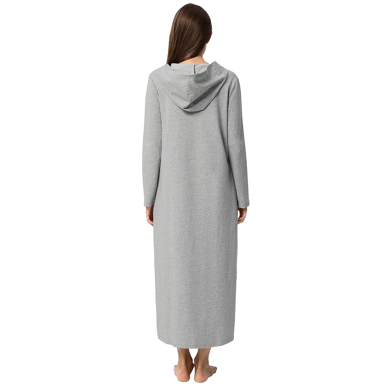 Zexxxy Donna Felpa con Cappuccio Leggera Manica Lunga Kimono con Cerniera e Tasche