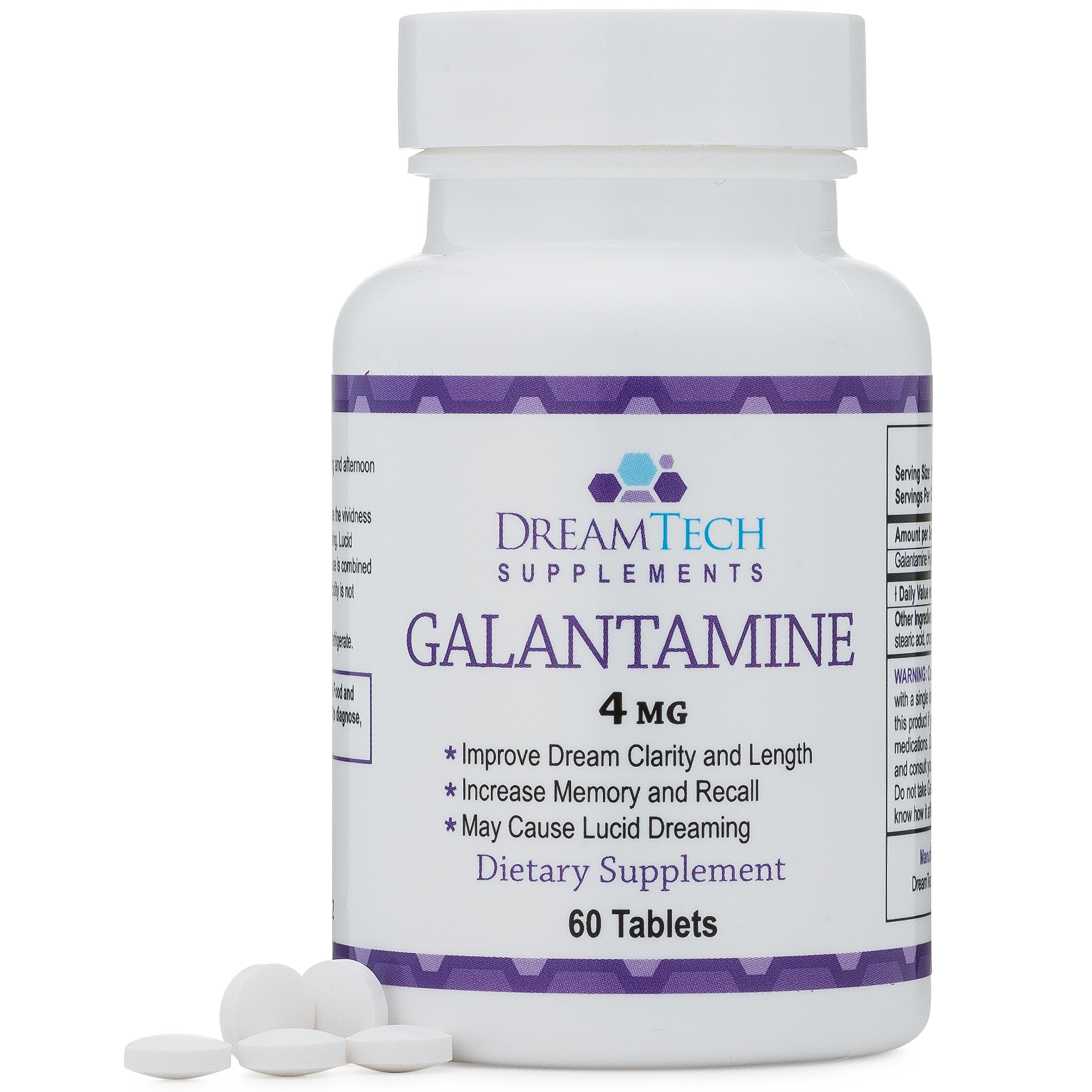 Galantamine - Lucid Dreaming & Nootropic Supplement - 4 Mg - 60 Tablets by Double Wood Supplements (Image #1)
