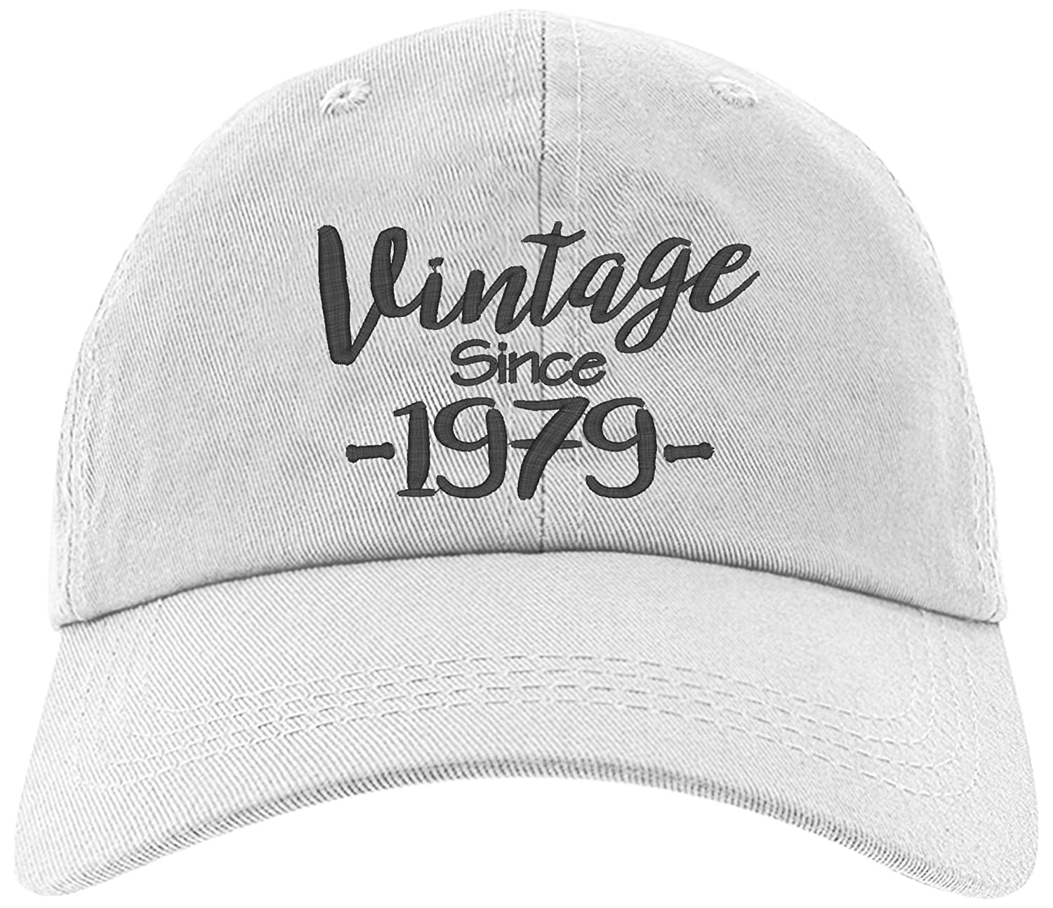 1776815af Amazon.com: Cap 1979-40th Birthday Gift, Vintage Aged to be Perfected Since  Baseball Hat 1979-EM-0014-Black: Clothing
