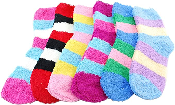 authentic run shoes new appearance Women's Soft and Warm Fuzzy Sock Packs (One Size Fits Most 13+) (5 Pack  Fuzzy)