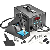 X-Tronic 9010-Pro 80W ESD Safe Desoldering Vacuum Suction Gun Station - 4 Nozzles