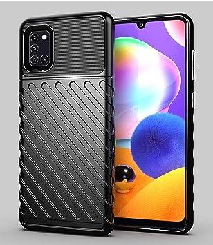 Hülle® Firmeza y Flexibilidad Funda Compatible para Samsung Galaxy A31(Negro): Amazon.es: Electrónica