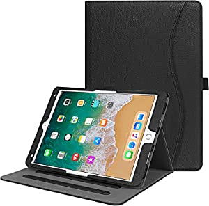 "Fintie Case for iPad Air 10.5"" (3rd Gen) 2019 / iPad Pro 10.5"" 2017 - [Corner Protection] Multi-Angle Viewing Folio Stand Cover with Pocket, Pencil Holder, Auto Wake/Sleep, Black"