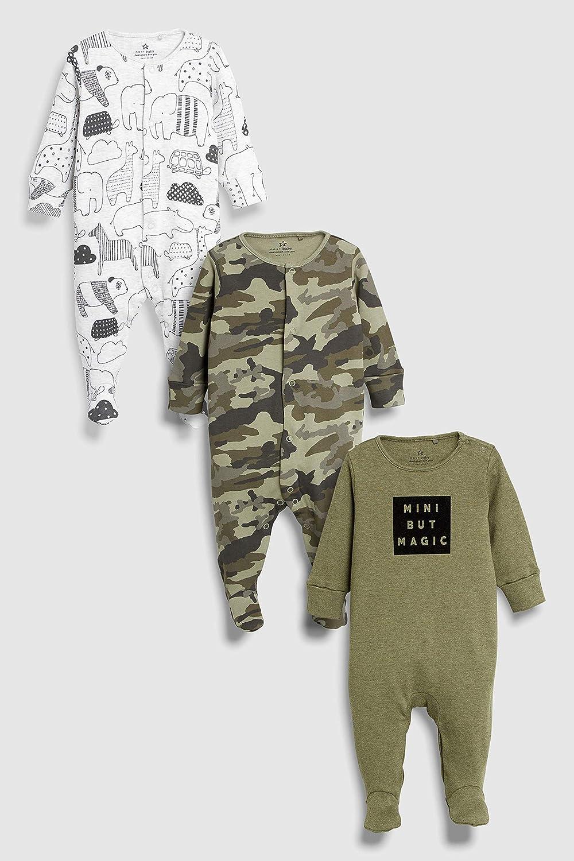 next Baby Jungen Pyjamas Mit Schriftzug Tiermotiv 3Er-Pack