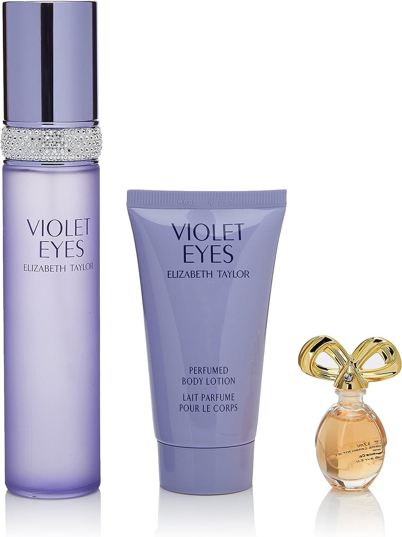 Elizabeth Taylor Violet Eyes Estuche con perfume de 50 ml, crema corporal perfumada de 50 ml y miniatura de 3,7 ml: Amazon.es: Belleza