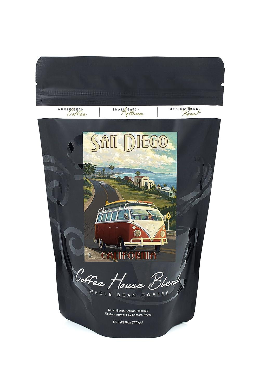 サンディエゴ、カリフォルニア州 – VW Vanクルーズ B074RX8D8J 8oz Coffee Bag8oz Coffee Bag