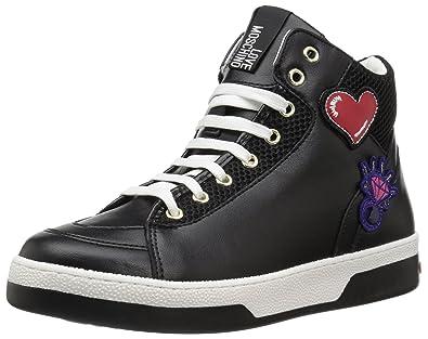 c03c05dc6a Love Moschino Women's JA15043G15IA100A Sneaker Black mesh 38 M EU (7 ...