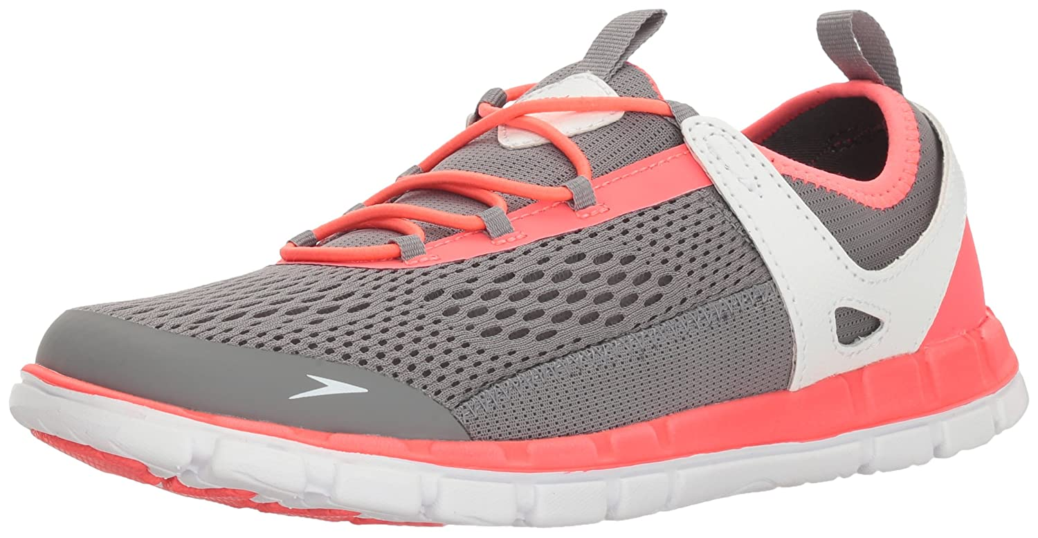 Speedo Women's The Wake Athletic Water Shoe B01IG95BRS 8 C/D US|Grey/Neon Pink