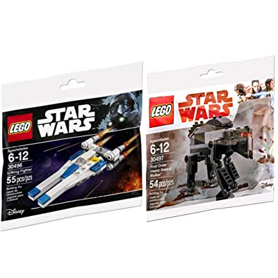 LEGO Star Wars First Order Heavy Assault Walker Last Jedi & U-Wing Fighter Rogue One Set - Polybag Edition Building Set: Toys & Games