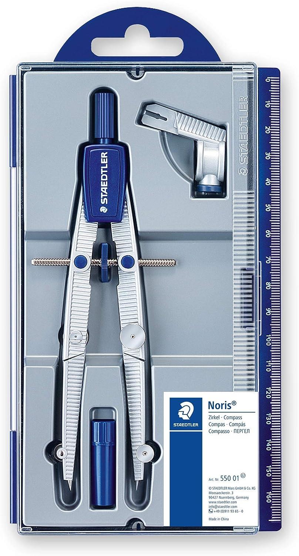 Staedtler NORIS CLUB 550 01, compás escolar de precisión con rueda de ajuste: Amazon.es: Oficina y papelería