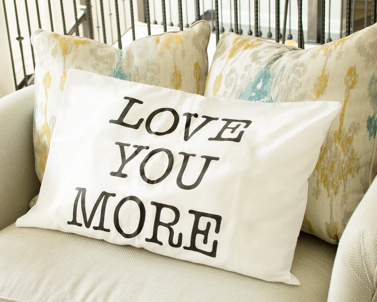 Love You More Pillow Cases House Warming Gift Wedding Gift. Love You