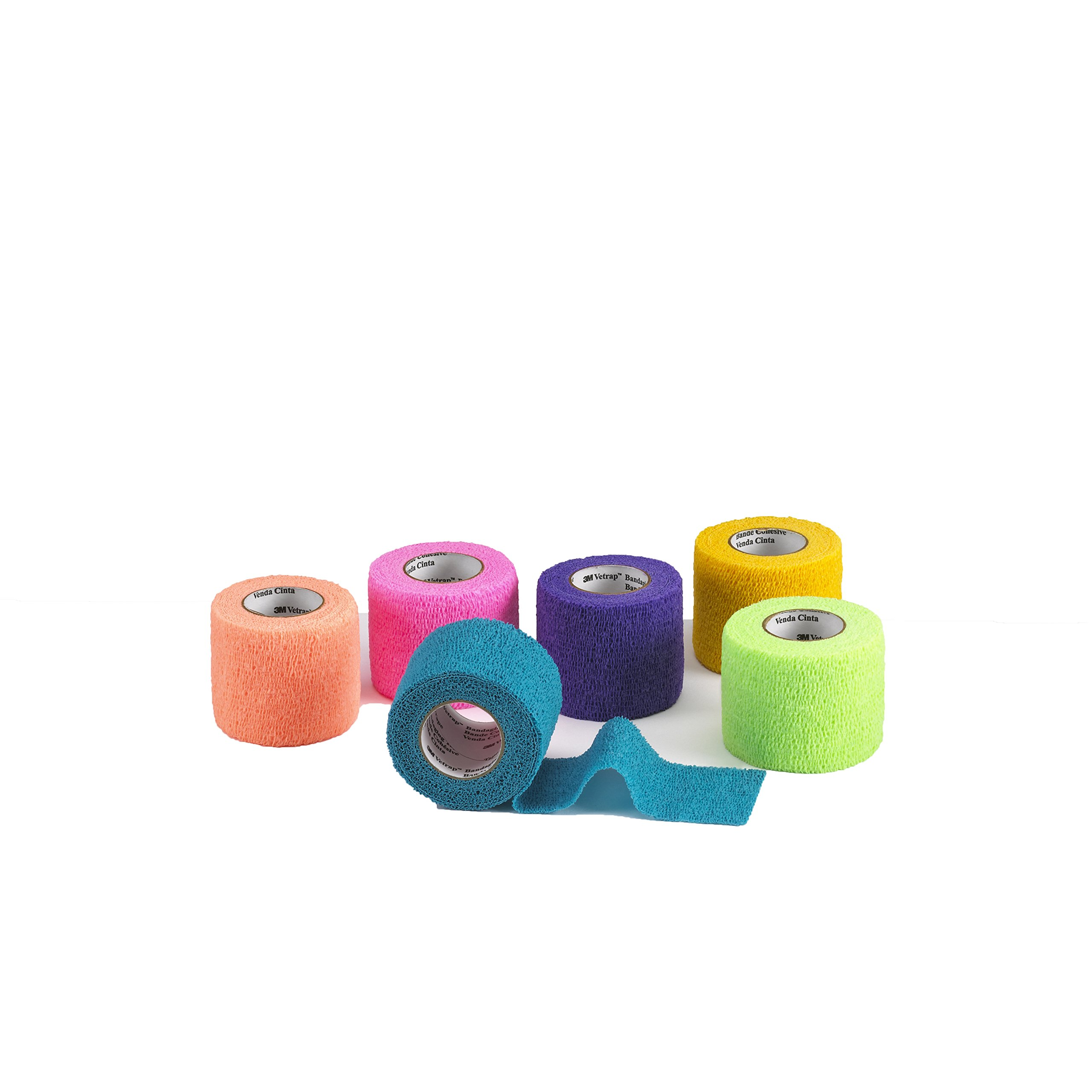 3M Vetrap 6-Bright Color Display Pack Tape for Dogs, Cats and Horses, 2-Inch, Assorted, 18-Roll/Case