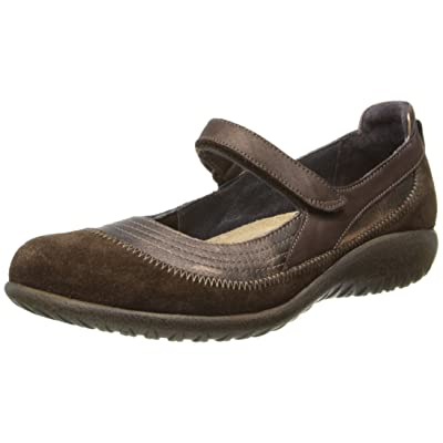 Naot Footwear Women's Kirei Maryjane Burnt Copper Lthr/Cocoa Suede/Brown Shimmer Nubuck - 37 M EU | Oxfords