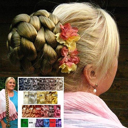 Amazon Com Bun Braid Hair Piece Custom Color Multi