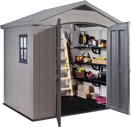 vidaXL Cobertizo de almacenaje del jardín Keter Factor 86: Amazon.es: Jardín